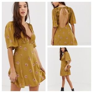 NWT Free People Mockingbird Mini Dress